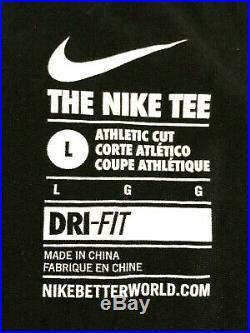 Kobe Bryant T-Shirt Black Nike Tee Size L #24 XXIV Black Mamba Very Rare! 003