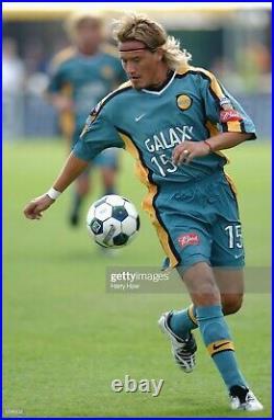 LA Galaxy Nike MLS Cup Final 2002 Luis Hernandez Home Soccer Jersey Very Rare