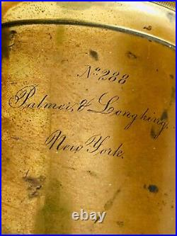 Large Antique Very Old, Rare1853-54 Palmer & Longking Radial Drive Brass Lens