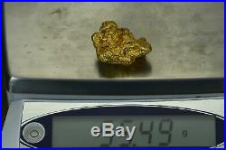 Large Natural Gold Nugget Australian 55.49 Grams 1.78 Troy Ounces Very Rare