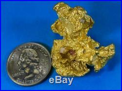 Large Natural Gold Nugget Australian 62.29 Grams 2.00 Troy Ounces Very Rare