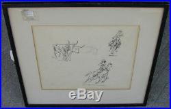 Large Original Painting Edward Borein Santa Barbara Artist 1872-1945 Very Rare