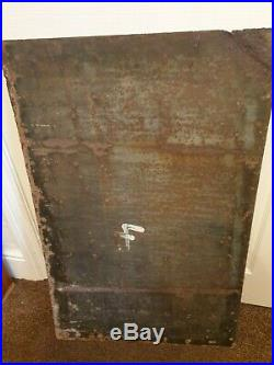 Large Players Cigarettes Enamel Advertising Sign Metal very rare