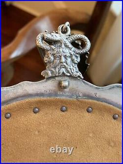 Large Very Rare Art Nouveau Sterling Silver Chatelaine Fantasy Purse Gorham 1901