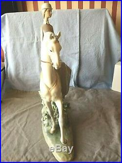 Lladro Lady Woman On Horse 4516. Female Equestrian. Very Large, Heavy & Rare