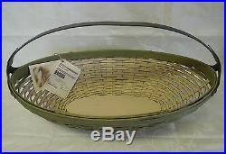 Longabergerlarge Metal Handled Leaf Basketsagegorgeous Oblongvery Rarebnwt