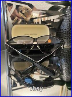 Louis Vuitton Sunglasses Black LV Logo Z0199U Large VERY RARE