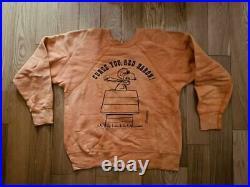 MAYO SPURUCE Snoopy Peanuts Sweatshirt Vintage 60's Size L Very Rare Japan FedEx