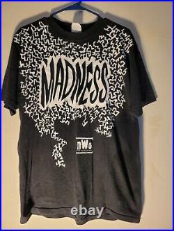 Macho Man Randy Savage Tshirt WCW Large Very Rare NWO Madness WWE Aew Retro tna