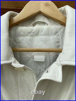 Margiela (MMM) X H&M White Leather Overshirt Jacket Coat Size Large VERY RARE
