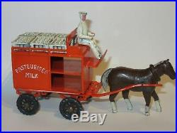 Matchbox Moko Early Lesney Very Rare Large Horse Drawn Milk Float Cart