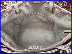 Michael Kors MK Bag Metallic Rose Gold Checkerboard E/W Jet Set Tote Very Rare
