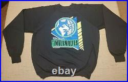 Minnesota Timberwolves Large VERY RARE vintage 80s long sleeve sweatshirt