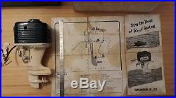 Moteur hors bord vintage FUJI Boat Outboard Motor Very Large & Rare K&O bleu
