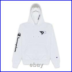 (NEW) Faze Clan x Champion Ghost White Hoodie Size L Deadstock (Very Rare)