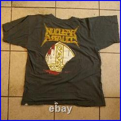 Nuclear Assault VINTAGE 1986 Hang the Pope Shirt Large VERY RARE Thrash Anthrax