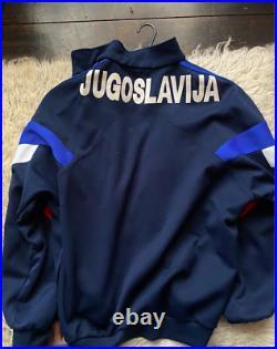 ORIGINAL vintage YUGOSLAVIA 1989 tracksuit top very RARE ADIDAS