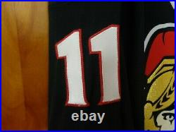 Ottawa Senators Very Rare #11 Daniel Alfredsson Highly Decorated Alt. Jersey