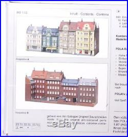 POLA 115 HO RARE VERY LARGE 4 KIT PACK RUE de MOZART ROW OF LARGE BUILDINGS