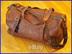 Pendleton debossed leather voyager duffel bag very rare