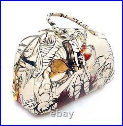 Prada Bauletto Lux Astro Cervo Ltd. Ed. Fairy Print Leather Satchel Very Rare