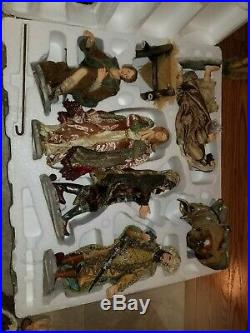 RARE VERY LARGE 16 PIECE PORCELAIN NATIVITY SET HUGE BY Living Home CHRISTMAS