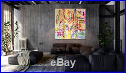 RARE VERY LARGE ORIGINAL MARTA ZAWADZKA Noon abstract modern art oil PAINTING
