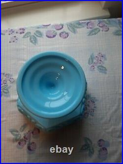 RARE! Vintage old Imperial Blue Milk Large Compote! AbsolutelyGORGEOUS! VERY RARE