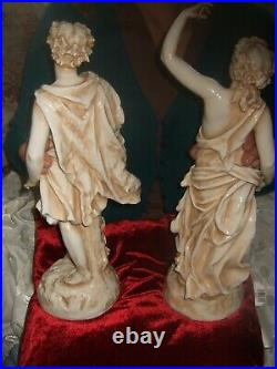 RARE pair RUDOLSTADT VOLKSTEDT VERY LARGE figures, 19th century. Royal Worcester