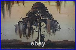 Rare Very Large HighwayMen James Gibson Antique Painting Upson Board 40 X 24.5