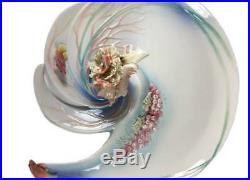 Retired Franz Fine Porcelain By the Sea Large Tray Very, Very Rare NIB FZ01334
