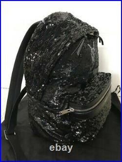 Saint Laurent YSL Monogram Black Sequin City Backpack Full size Very Rare-NEW