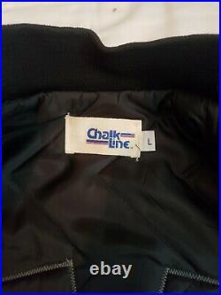 San Jose Sharks VTG OG Chalk Line L Starter Style Spellout Very Rare Very Nice