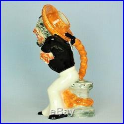 Shorter & Son Very Rare D'oyly Carte Opera Large Character Jug Dick Deadeye