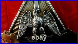Solid Silver Gilt Rose Croix 18th Degree Vintage Collar Jewel Very Large &Rare