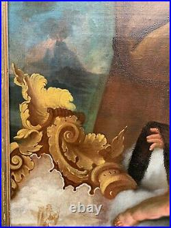 St. Benedict the moor, very large rare museum painting Italy ar. 1750