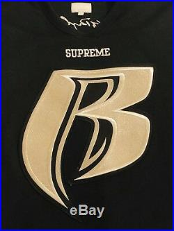 Supreme x Ruff Ryders FW14 2014 Men's Hockey Jersey Black Large Very Rare
