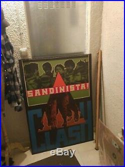 The Clash vintage Sandinista original promo poster Subway large. Very rare