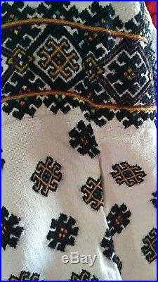 Ukrainian vintage(1920-1930y)embroidered dress, Very rare! M-L, handiwork, Ukraine