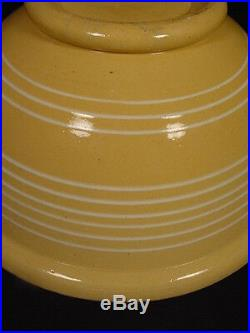 VERY RARE 1800s LARGE 13 INCH 9 BAND BOWL YELLOW WARE