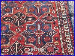 VERY RARE AKSTAFA KUBA SHIRVAN CAUCASIAN RUG LARGE 5 x 8 STAR MEDALLIONS