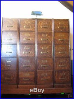 VERY RARE Antique Oak File Cabinet on Casters MACEY Co Large Piece 5 ft tall