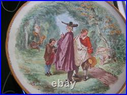 VERY RARE BEAUTIFULL Wedgewood majolica comport or large footed dish, signed PL