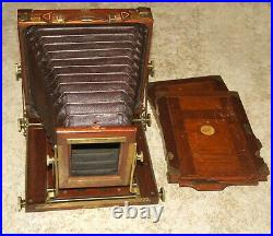 VERY RARE EMIL WUNSCHE MAHOGANY VINTAGE 5x7 LARGE FORMAT CAMERA