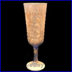 VERY RARE LARGE ANCIENT ROMAN BLUE GLASS DRINKING CUP 1st Century A. D