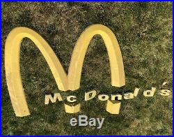 VERY RARE LARGE Aluninum McDonalds Golden Arches Sign & Small McDonalds Letters