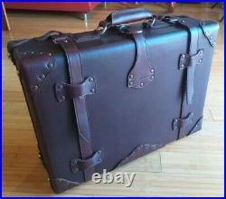 VERY RARE Saddleback Leather Vintage Style Large Luggage Mint Condition (B-01)