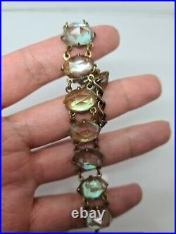 VERY RARE Saphiret Large stoned Victorian Bracelet