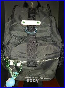 VERY RARE! Tokidoki X LeSportsac Black Backpack withOriginal Print Lining-VEUC