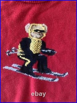 VERY RARE VINTAGE Ralph Lauren Skiing Polo Bear Turtleneck! Size LARGE